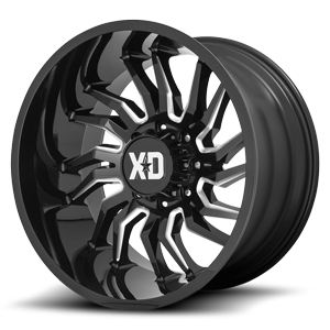 XD Series by KMC XD858 Tension 8 Gloss Black Milled