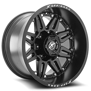 XF Off-Road XF-204 6 Matte Black - 20x14