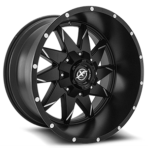 XF Off-Road XF-208 6 Gloss Black Milled - 22x12