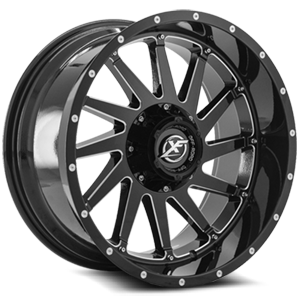XF-216 Gloss Black Milled - 20x10 5 lug
