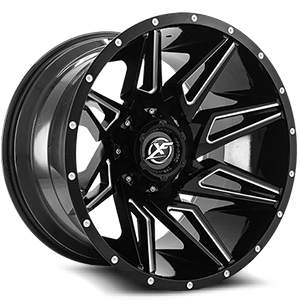 XF Off-Road XF-218 5 Gloss Black Milled - 22x12