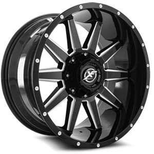XF Off-Road XF-219 5 Gloss Black Milled - 20x10