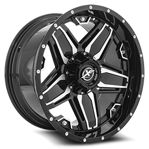 XF-223 Gloss Black Machined - 20x10 5 lug