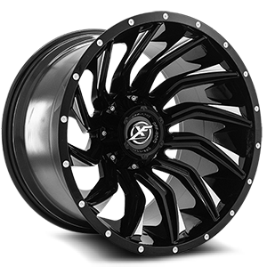 XF Off-Road XF-224 5 Gloss Black Machined - 20x12