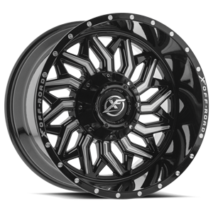 XF-228 Gloss Black Milled 5 lug