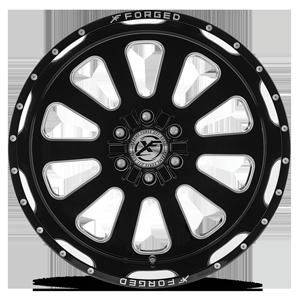 XF-302 Gloss Black Milled 5 lug