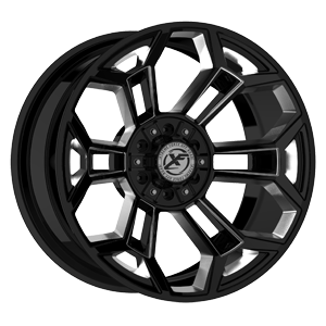 XFX-308 Black Milled 6 lug