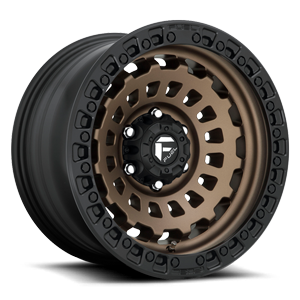 Fuel 1-Piece Wheels Zephyr - D634 [Truck] 6 Bronze w/ Black Ring