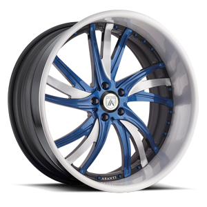Asanti Forged Wheels A/F Series AF827 5 Blue and Brushed