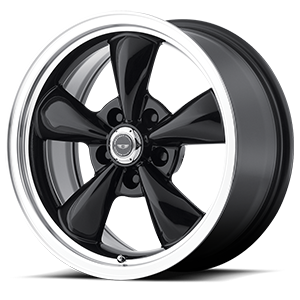 American Racing Custom Wheels AR105M Torq Thrust M 5 Gloss Black w/ Machined Lip