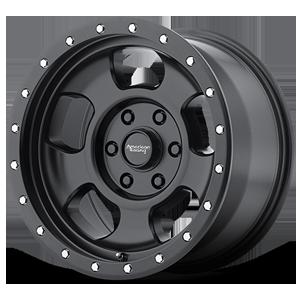 American Racing Custom Wheels AR969 Ansen Off Road 6 Satin Black w/ Satin Black Ring