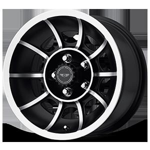 American Racing Custom Wheels VN47 Vector 5 Satin Black Machined