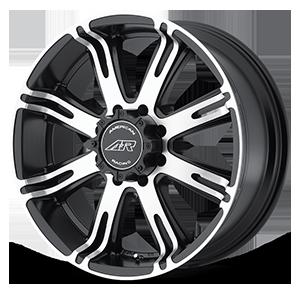 American Racing Custom Wheels AR708 Ribelle 8 Matte Black Machined