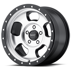 American Racing Custom Wheels AR969 Ansen Off Road 5 Machined Face w/ Satin Black Ring
