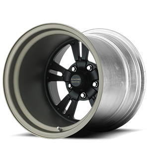 American Racing Custom Wheels VF480 5 Shown with Custom Satin Black center with Titanium barrel