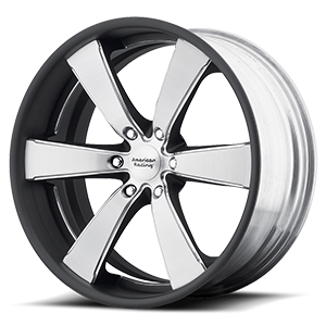 American Racing Custom Wheels VN476 Slate 6 Two-Piece Brushed Center w/ Painted Barrel