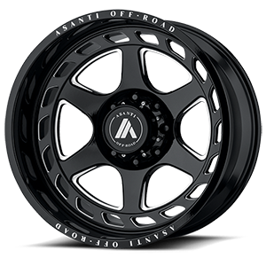 AB816 Anvil Gloss Black Milled 8 lug