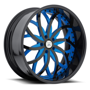 Asanti Forged Wheels A/F Series AF821 5 Blue and Black
