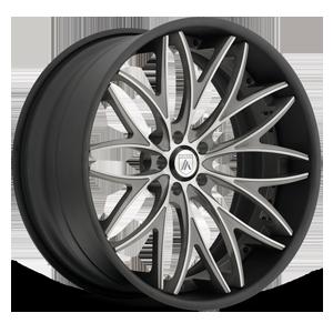 Asanti Forged Wheels C/X Series CX822 5 Brushed w/Black Lip