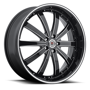 Red Sport Wheels Rome 5 Black Machined
