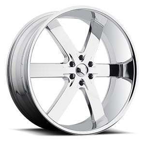 U2 Wheels 55S-B 6 Chrome