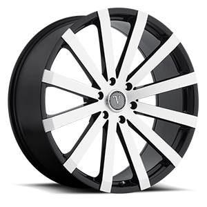 Velocity Wheels VW12 6 Machined with Black Lip