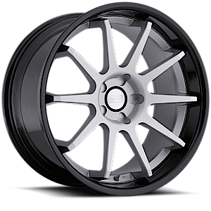 Concept One Wheels 769 5 Brushed Silver w/ Black Lip
