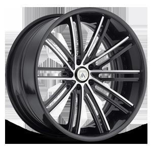 Asanti Forged Wheels C/X Series CX193 5 Gloss Black w/ Chrome Inserts
