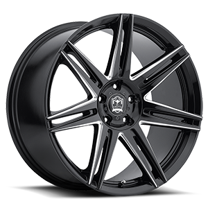 Motiv Luxury Wheels 414 Modena 5 Gloss Black with CNC Milled Accents