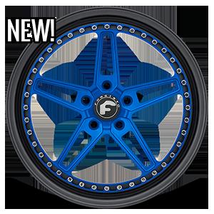Forgiato Formula F-Cinque 5 Blue Center, Black Lip