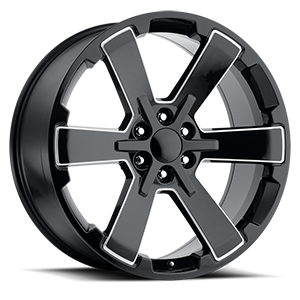 Factory Reproductions Style 45 6 Gloss Black Milled Spokes