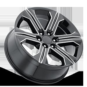 Style 47 Gloss Black Milled 6 lug