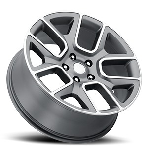 Style 76 Satin Grey Machined Face 5 lug
