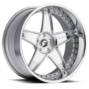 Forgiato CLASSICO 5 Chrome Center, Chrome Lip