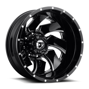 Fuel Dually Wheels Cleaver Dually Rear - D239 8 Gloss Black & Milled