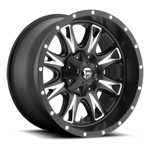 Fuel 1-Piece Wheels Throttle - D513 5 Matte Black & Milled