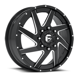 Fuel Dually Wheels Renegade Dually Front - D265 8 Gloss Black & Milled