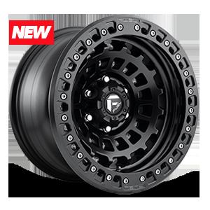 Fuel 1-Piece Wheels Zephyr Beadlock - D101 5 Matte Black w/ Matte Black Ring
