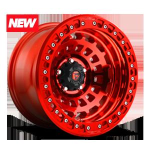 Fuel 1-Piece Wheels Zephyr Beadlock - D100 5 Candy Red