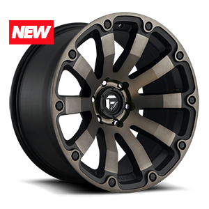 Fuel 1-Piece Wheels Diesel - D636 5 Black & Machined with Dark Tint