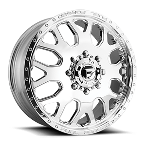 Fuel Dually Wheels FF19D - Front 8 Polished