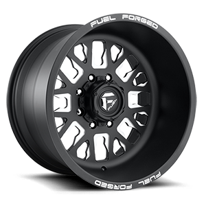 FF45D - Super Single Front Matte Black & Milled 8 lug