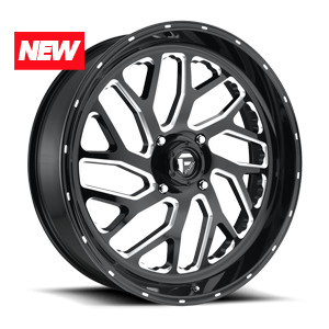 Fuel UTV Wheels Triton - UTV 4 Gloss Black & Milled