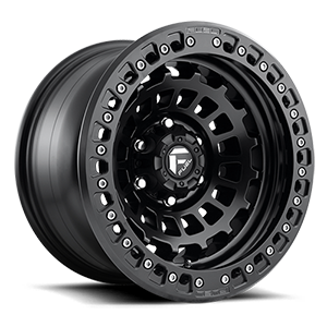 Fuel 1-Piece Wheels Zephyr Beadlock - D101 5 Matte Black w/ Matte Black Ring