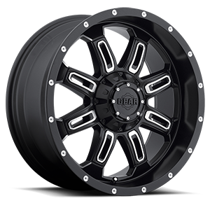 Gear Alloy 725 Dominator 5 Satin Black with Mirror Machined Accents