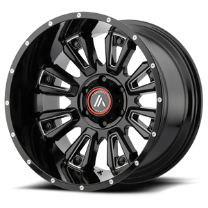 AB808 Blackhawk Gloss Black Milled 6 lug