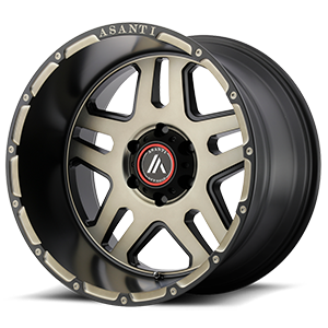 AB809 Enforcer Matte Black Machined w/ Tinted Clear 6 lug