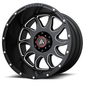 AB810 Ballistic Gloss Black Milled 6 lug