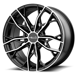 Helo Wheels HE907 5 Gloss Black Machined