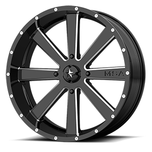 MSA Offroad Wheels M34 Flash 4 Gloss Black Milled